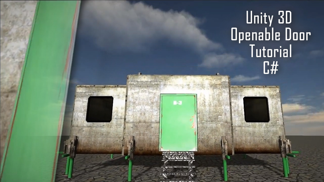 Unity 3D Openable Door Script C# - Sharp Coder