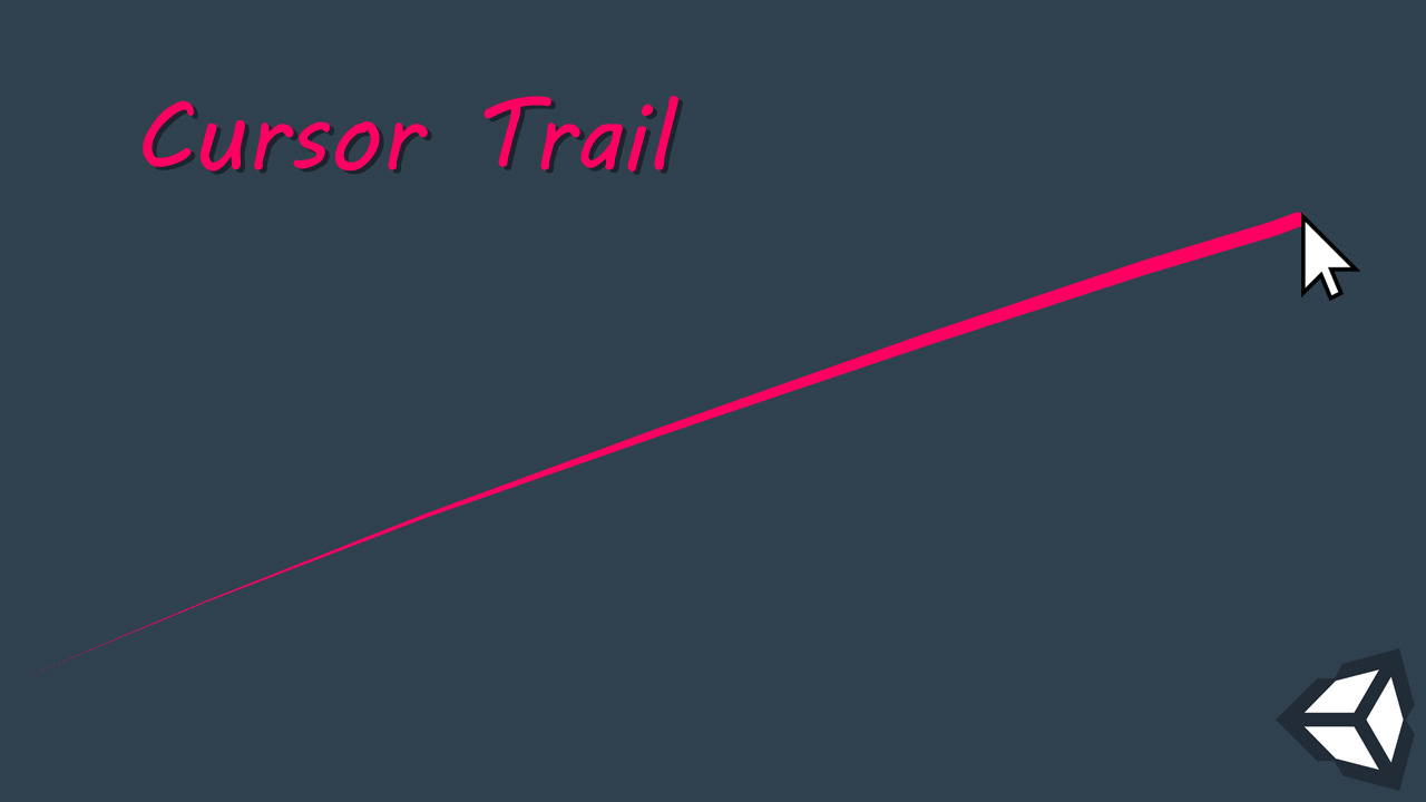 Unity 3D Cursor Trail Effect