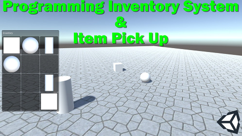 Unity 3D Coding a Simple Inventory System With UI Drag & Drop - Thumbnail
