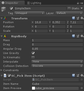 Unity 3D Coding a Simple Inventory System With UI Drag